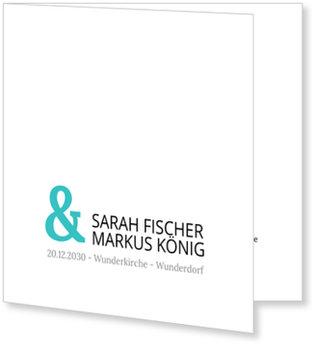 Einladungskarten Hochzeit, Auf weißem Grund
