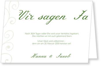 Einladungskarten Hochzeit, Dezente Verzierung