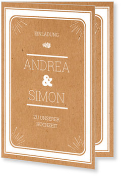Einladungskarten Hochzeit, Gerahmt