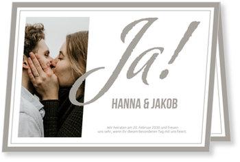 Einladungskarten Hochzeit, Großes Ja
