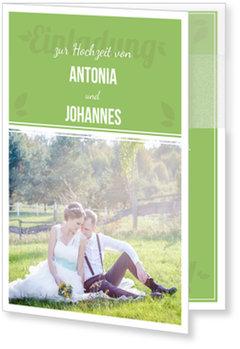 Einladungskarten Hochzeit, Zarte Schrift
