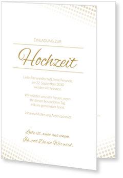 Einladungskarten Hochzeit, Elegante Pailletten