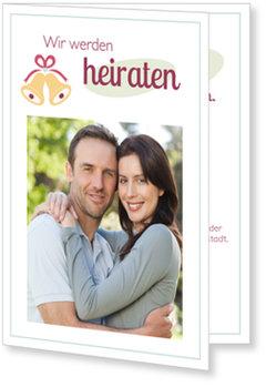 Einladungskarten Hochzeit, Glöckchen