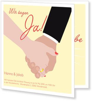 Einladungskarten Hochzeit, Hochzeit Hände