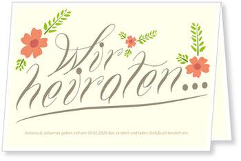 Einladungskarten Hochzeit, Hochzeitsblüte
