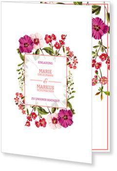 Einladungskarten Hochzeit, Hochzeitsblumen