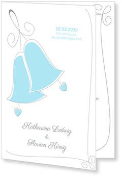 Einladungskarten Hochzeit, Hochzeitsglocken