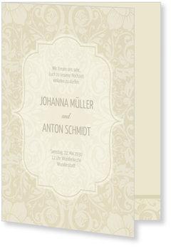 Einladungskarten Hochzeit, Klassisch