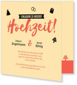 Einladungskarten Hochzeit, Retrocolors