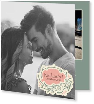 Einladungskarten Hochzeit, Hochzeitsschild