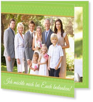 Danksagungskarten Kommunion, Ich möchte mich bedanken in Grün