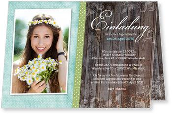Einladungskarten Jugendweihe, Wunderbare Jugendweihe in Blau