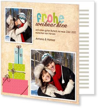 Aktuelle Weihnachtskarten, Kleine bunte Geschenke
