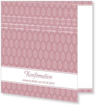 Einladungskarten Konfirmation, Kleines Blatt