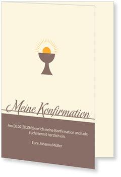 Einladungskarten Konfirmation, Heiliger Kelch