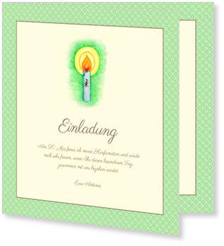 Einladungskarten Konfirmation, Kerze