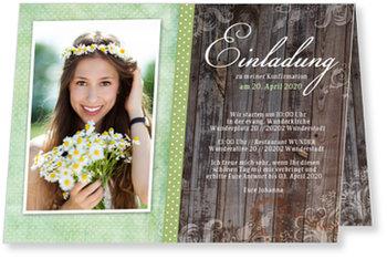 Einladungskarten Konfirmation, Wunderbare Konfirmation