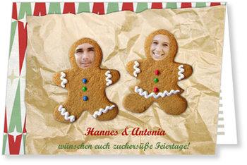 Aktuelle Weihnachtskarten, Lebkuchen-Paar