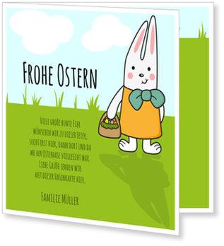 Osterkarten selbst gestalten, Osterhase