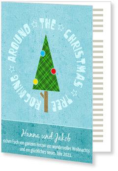 Aktuelle Weihnachtskarten, Rocking Tree