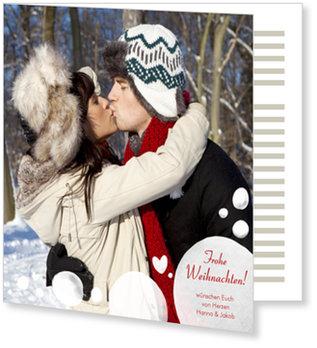 Aktuelle Weihnachtskarten, Schneeflöckchen