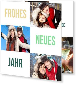 Neujahrskarten, Elegante Kästchen