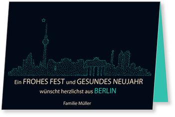 Neujahrskarten, Skyline - Berlin