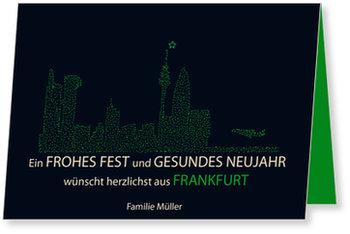 Neujahrskarten, Skyline - Frankfurt