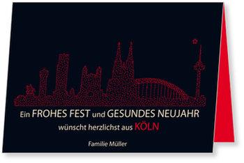 Neujahrskarten, Skyline - Köln