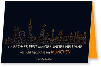 Neujahrskarten, Skyline - München