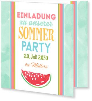 Einladungskarten Sommerfest, Obstparty
