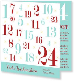 Aktuelle Weihnachtskarten, Adventskalender