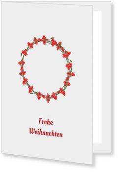 Aktuelle Weihnachtskarten, Beerenkranz