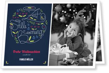 Aktuelle Weihnachtskarten, Besinnliche Weihnacht
