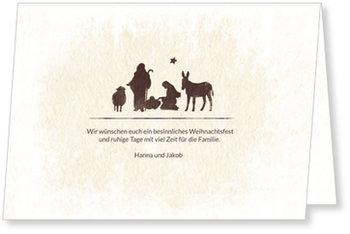 Aktuelle Weihnachtskarten, Betlehem