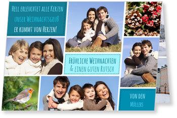 Aktuelle Weihnachtskarten, Bildercollage