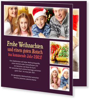 Aktuelle Weihnachtskarten, Dreifach