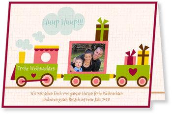 Aktuelle Weihnachtskarten, Kleine Eisenbahn