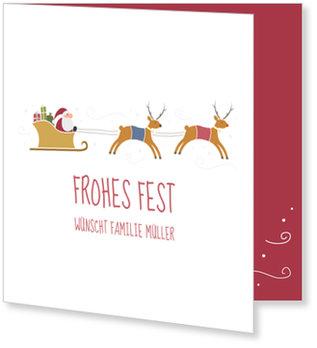 Aktuelle Weihnachtskarten, Fleißiger Weihnachtsmann