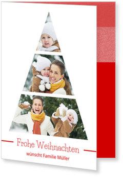 Aktuelle Weihnachtskarten, Foto-Tanne