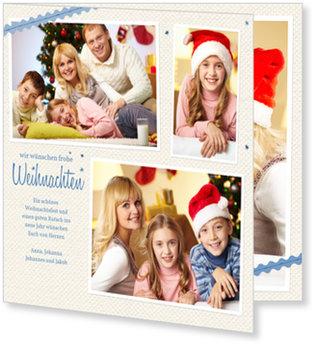 Aktuelle Weihnachtskarten, Fotobändchen
