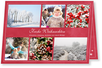 Aktuelle Weihnachtskarten, Fotofelder