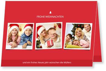 Aktuelle Weihnachtskarten, Frohe Weihnachten Trio