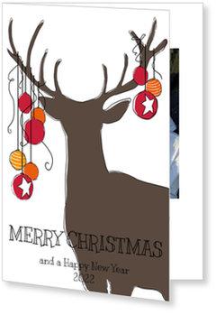 Aktuelle Weihnachtskarten, Hirschsilhouette