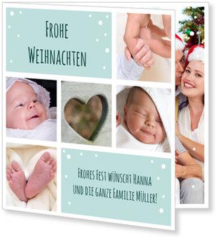 Weihnachtskarten Baby, Kleine Flöckchen