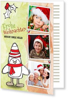 Aktuelle Weihnachtskarten, Kleiner gemalter Pinguin