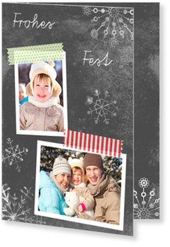 Aktuelle Weihnachtskarten, Kreidetafel
