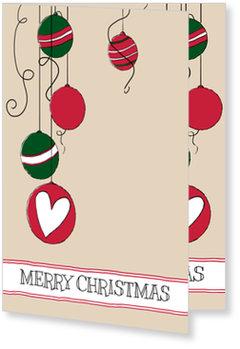 Aktuelle Weihnachtskarten, Kugeln