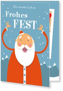Aktuelle Weihnachtskarten, Lustiger Weihnachtsmann