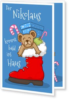 Aktuelle Weihnachtskarten, Nikolausstiefel